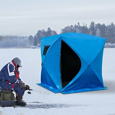 2-4 Person Pop-up Ice Shelter Fishing Tent Outdoor Portable