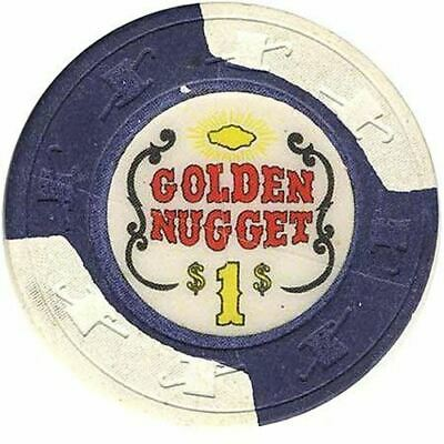 Golden Nugget Casino Las Vegas NV $1 Chip 1970s