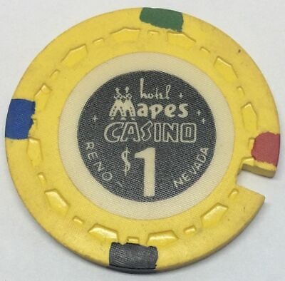Mapes Casino Reno NV $1 Cancelled Chip 1964