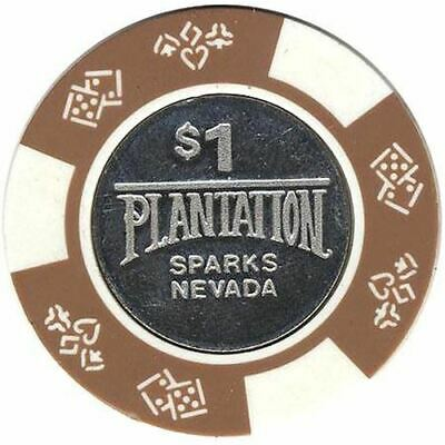 Plantation Casino Sparks NV $1 Chip 1990