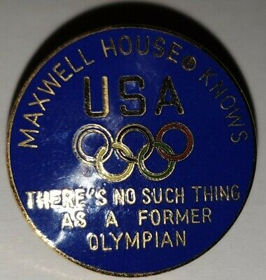 Pin's Pin Jo Albertville 92 Jeux  Olympiques Usa Maxwell House Olympian