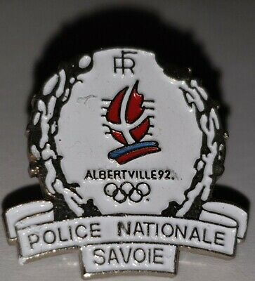Pin's Pin Jo Albertville 92   Olympiques Couronne Gerbe Police Nationale Savoie
