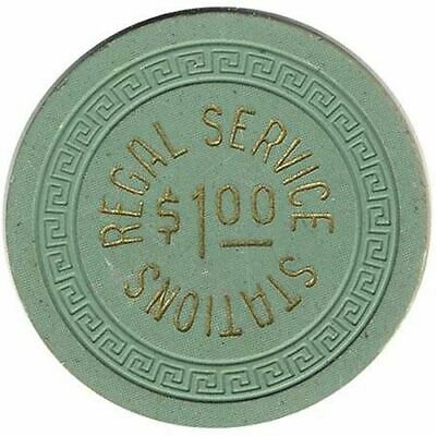 Regal Service Station Casino Reno NV $1 Chip 1950s