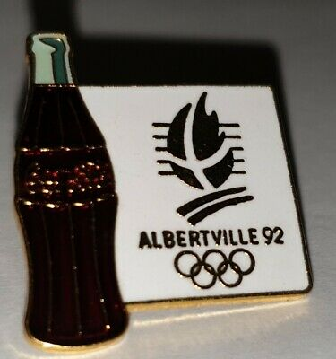 Pin's Pin Jo Albertville 92   Olympiques Bouteille Coca Cola