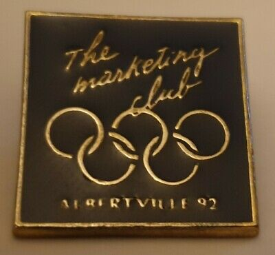 Pin's Pin Jo Albertville Olympique 92 The Marketing Club Tres Rare Superbe