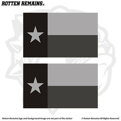 Set of 2 Texas Flag for LEFT RIGHT Side Vinyl Sticker Decal WHITE or BLACK V1