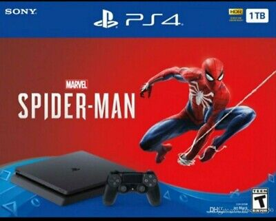 Sony PlayStation 4 Slim Marvel's Spider-Man 1TB Consola - Negra