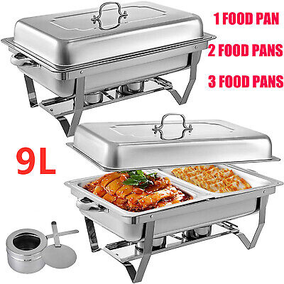 9L Bain Marie Bow Chafing Dish Stainless Steel Food Buffet Warmer Set