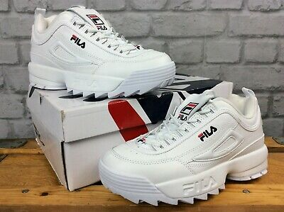 FILA LADIES UK 5 12 Eu 39 Disruptor Ii White Blue Red