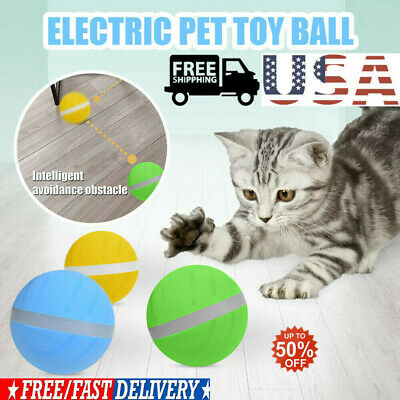 Motion Ball For Pets Toy led flash Electric Activated Cat~Dog Playing Waterproof