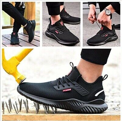 UK Men Women Safety Shoes for Lightweight  Steel Toe Trainers Work Shoes Sports