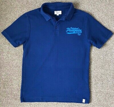 Worn Once Boys Penguin Blue Polo Shirt Age 14 - 15 Years