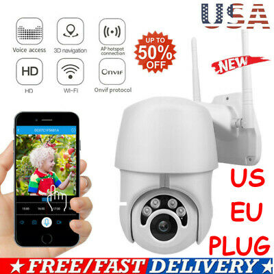 Waterproof Outdoor WiFi PTZ Pan Tilt 1080P HD Security IP IR Camera~Night Vision
