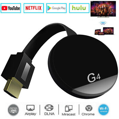 For Chromecast Google HDMI 1080P - Charcoal Media Streamer 4th Generation Video