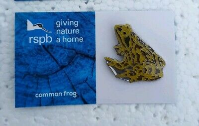 RSPB COMMON FROG charity pin badge GNAH BRAND NEW DESIGN CARD