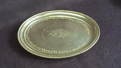 Charming Vintage 1930s 900 Silver Oval Card Tray or Salver 201g