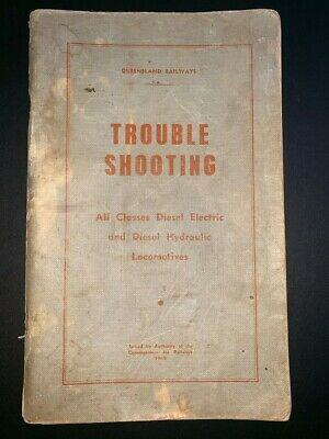 Queensland railways all classes loco trouble shooting manual .Dated1969.
