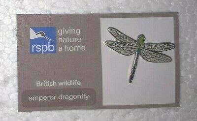 RSPB EMPEROR DRAGONFLY charity pin badge #2 COMBINES P+P GNAH