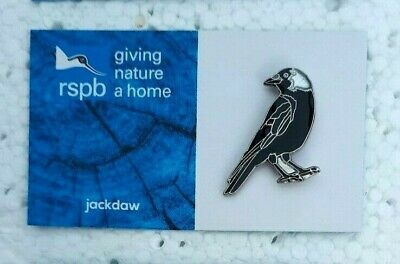 RSPB JACKDAW charity pin badge GNAH BRAND NEW DESIGN CARD