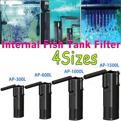 Hidom Internal Aquarium Fish Tank Filter Filtration Submersible Pump Spray Bar ^