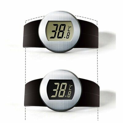 Digital LCD Red Wine Bottle Thermometer Auto Wine Temperature Meter Watch WP