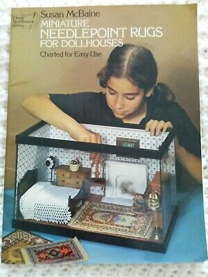 Vintage Miniature Needle Point Charts For Dolls House Rugs Book Susan Mcbaine