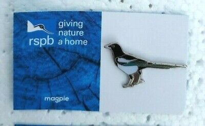 RSPB MAGPIE charity pin badge GNAH BRAND NEW DESIGN CARD