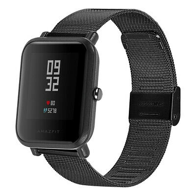 For Xiaomi Huami Amazfit Bip Watch Belt Milanese Stainless Steel Wrist Strap