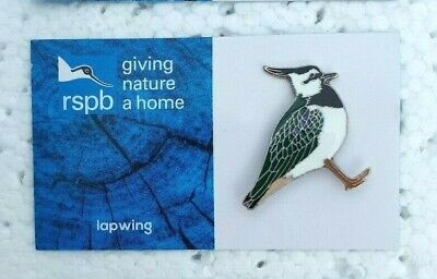 RSPB LAPWING charity pin badge GNAH BRAND NEW DESIGN CARD