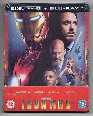 Iron Man Steelbook 4K Blu-Ray Uhd Hdr Avengers Marvel Studios Zavvi Sold Out