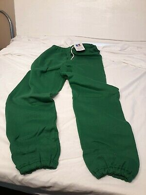 Russell Athletic VTG 90's Green NWT NOS Sweatpants Joggers Large MADE USA NEW!