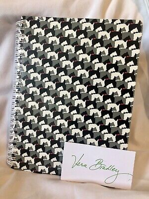 Vera Bradley Mini Notebook with Pocket In SCOTTIE DOGS 80 Sheets Notepad NWT New