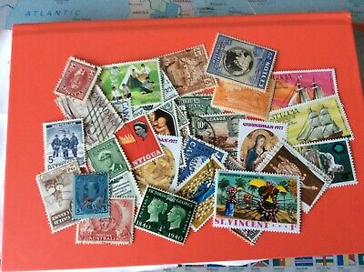 Stamps   British Commonwealth lot of 100