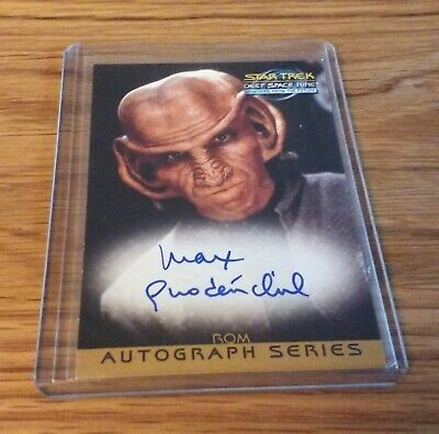 Star Trek DS9 MFTF Max Grodenchik as Rom Autograph Card A17