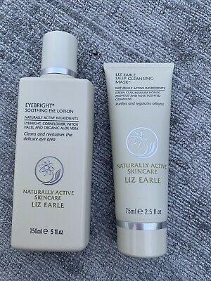 Liz Earle Full Size Eye Bright And Deep Cleansing Mask. Brand New. Rrp £35