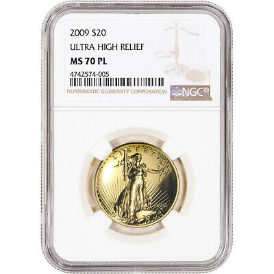2009 US Gold $20 Ultra High Relief Double Eagle - NGC MS70 PL
