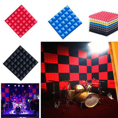 20pcs Studio Acoustic Wall Panels Tiles Sound Blocking Foam Flame Retardant UK
