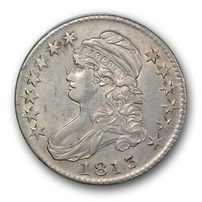 1813 50C Capped Bust Half Dollar About Uncirculated to Mint State Coin R14