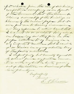S. A. Russell - Autograph Letter Signed 10/16/1880