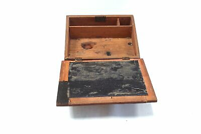 Vintage UNBRANDED Wooden Hand Decorated Writing Slope UNBOXED - P15