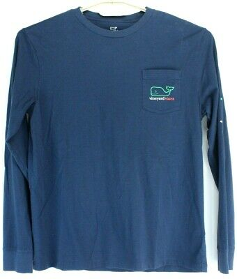 Vineyard Vines Boys Long Sleeve Pocket T Shirt Blue ST. PADDY'S DAY 2017 Size XL
