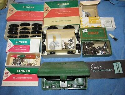 Huge Lot Vintage Singer Sewing Machine Parts and Accessories  ---over 4 pounds