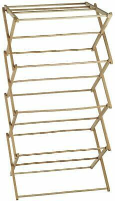 Wooden Clothes Horse Folding Airer Rack Laundry Drying Foldable Wood Outdoor