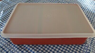 Vintage Tupperware Large Craft Box divided Trays Craft Sewing Fishing  & more