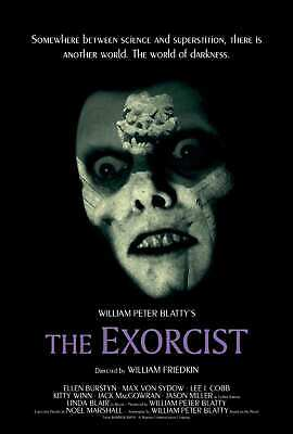 A823 Art Poster print The Exorcist 1973Horror Movie room decor canvas24x36 12x18
