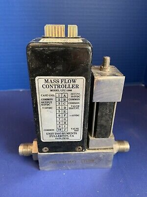 "Unit UFC-1000 Mass Flow Controller,  H2, 10 SLM, 1/4"" MVCR, Used"
