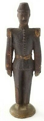 Antique CAST IRON SOLDIER OFFICER Old Paint 4.25""