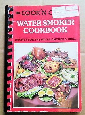 Cookin' Cajun Water Smoker Grill Barbecue BBQ Steam Meats Game Kabobs VTG 1984