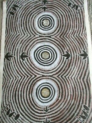 Large Aboriginal painting by Ray Nelson Panunga 130 cm x 90 cm