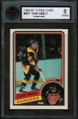 1984 85 OPC O-Pee-Chee #327 Cam Neely Rookie RC KSA 8 NMM